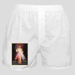 divine mercy jesus I trust in you bla Boxer Shorts