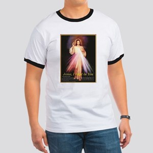 divine mercy jesus I trust in you black T-Shirt