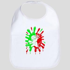 Green and Red Paintball Splatter Plus Mascot Bib