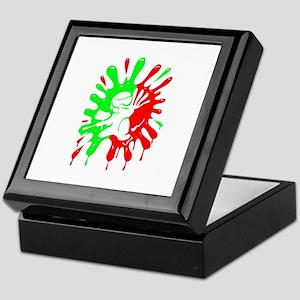 Green And Red Paintball Splatter Plus Keepsake Box