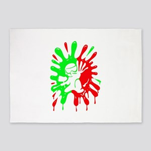 Green and Red Paintball Splatter Plus Mascot 5'x7'