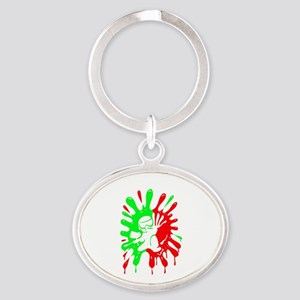 Green And Red Paintball Splatter Plus Keychains