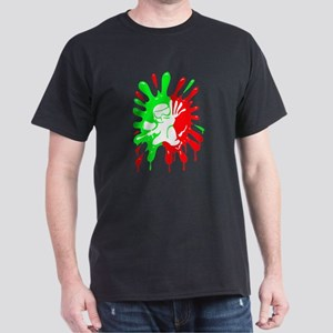 Green and Red Paintball Splatter Plus Mascot T-Shi