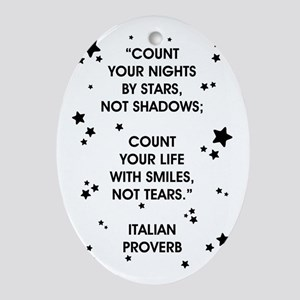 COUNT YOUR LIFE... Oval Ornament