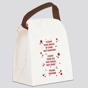 COUNT YOUR LIFE... Canvas Lunch Bag