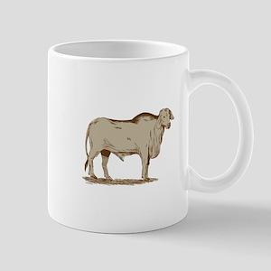 Brahman Bull Drawing Mugs