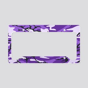 Purple Camouflage License Plate Holder