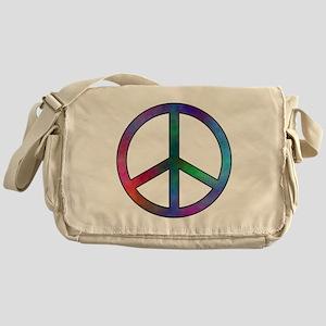Multicolored Peace Sign Messenger Bag