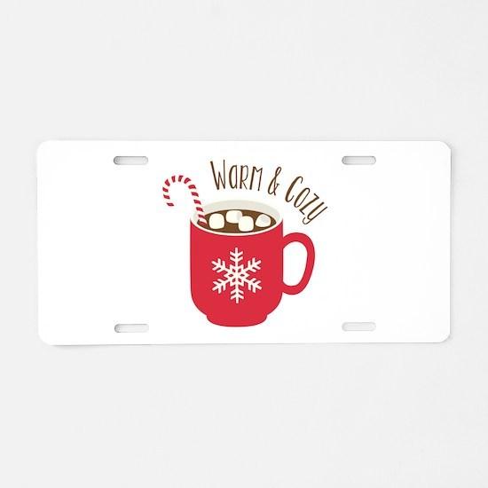 Warm & Cozy Aluminum License Plate