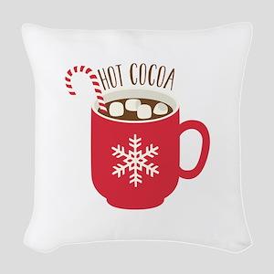 Hot Cocoa Woven Throw Pillow
