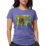 3-MP-IRISES-Cav-Ruby7 Womens Tri-blend T-Shirt