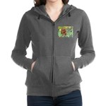 3-MP-IRISES-Cav-Ruby7 Women's Zip Hoodie