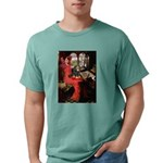 TILE-Lady-Cav-Blk-Tan Mens Comfort Colors Shir
