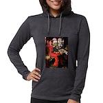 TILE-Lady-Cav-Blk-Tan Womens Hooded Shirt