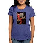 TILE-Lady-Cav-Blk-Tan Womens Tri-blend T-Shirt