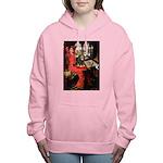 TILE-Lady-Cav-Blk-Tan Women's Hooded Sweatshir