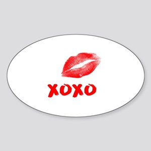 LIPS KISS XOXO RED Sticker
