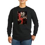 TILE-Lady-Cav-Blk-Tan Long Sleeve Dark T-Shirt