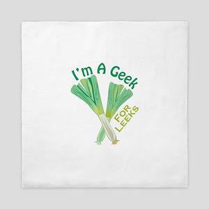 Geek For Leeks Queen Duvet