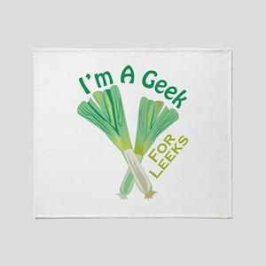 Geek For Leeks Throw Blanket