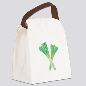 Green Onions Canvas Lunch Bag