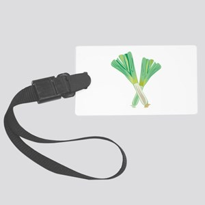 Green Onions Luggage Tag