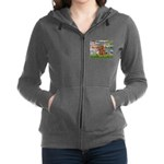 3-MP-LILIES2-Cav-Ruby7 Women's Zip Hoodie
