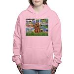3-MP-LILIES2-Cav-Ruby7 Women's Hooded Sweatshi