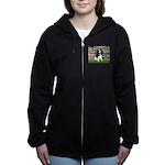 LILIES2-Cav-Tri52  Women's Zip Hoodie
