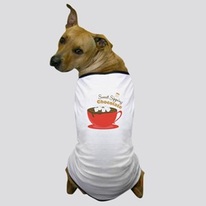 Sipping Chocolate Dog T-Shirt