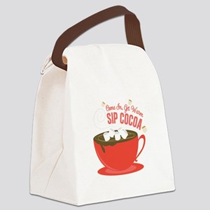 Sip Cocoa Canvas Lunch Bag
