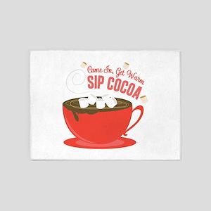Sip Cocoa 5'x7'Area Rug