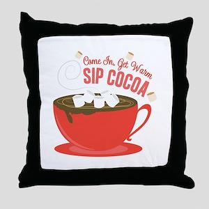 Sip Cocoa Throw Pillow