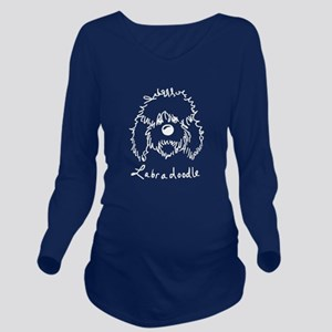 KiniArt Labradoodle Long Sleeve Maternity T-Shirt