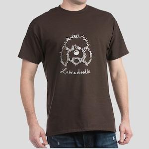 KiniArt Labradoodle Art Dark T-Shirt