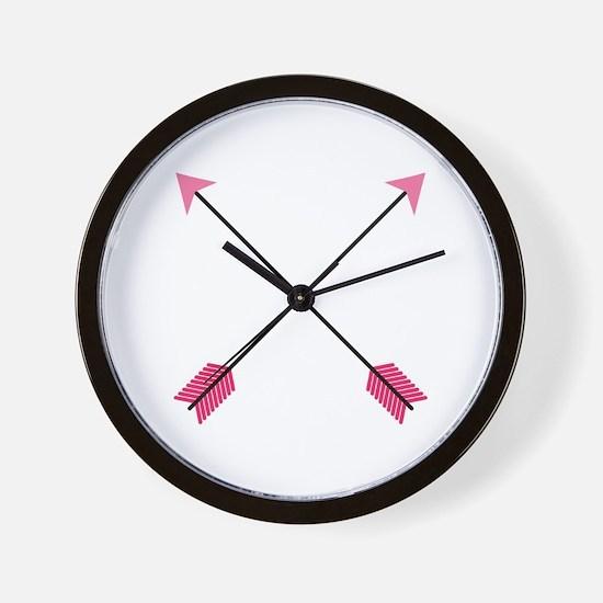 Crossed Arrows Wall Clock