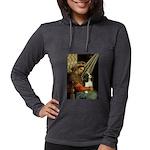 ORN-Oval-Madonna-Cav-Tri5 Womens Hooded Shirt