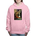 ORN-Oval-Madonna-Cav-Tri5 Women's Hooded Sweat