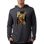 TILE-MadonnaCav-Blk-Tan Mens Hooded Shirt