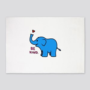 be kind elephant 5'x7'Area Rug