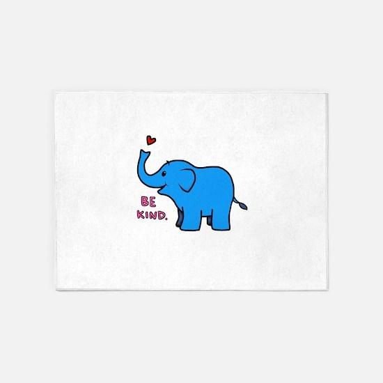 be kind elephant 5'x7'Area Rug