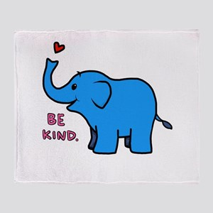 be kind elephant Throw Blanket