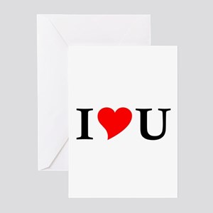 I Love U Greeting Cards (Pk of 10)