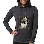 TILE-Oph2-Cav-Blk-Tan Womens Hooded Shirt