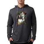 TILE-Oph2-Cav-Blk-Tan Mens Hooded Shirt