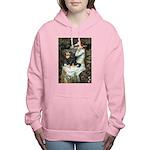 TILE-Oph2-Cav-Blk-Tan Women's Hooded Sweatshir