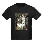 TILE-Oph2-Cav-Blk-Tan Kids Dark T-Shirt