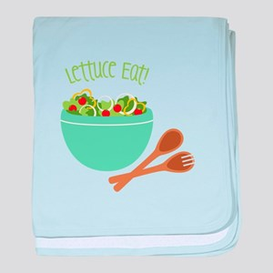 Lettuce Eat baby blanket