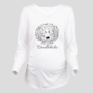 KiniArt Doodleholic Long Sleeve Maternity T-Shirt