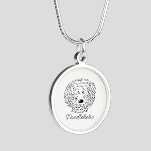KiniArt Doodleholic Silver Round Necklace